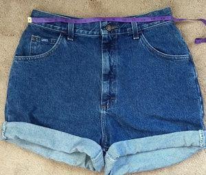 Lee Jeans super high waist mom shorts